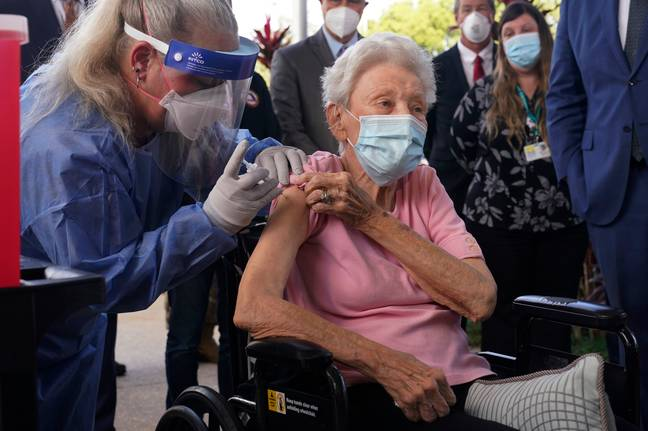 The elderly are first in line for the vaccine (Credit: PA)