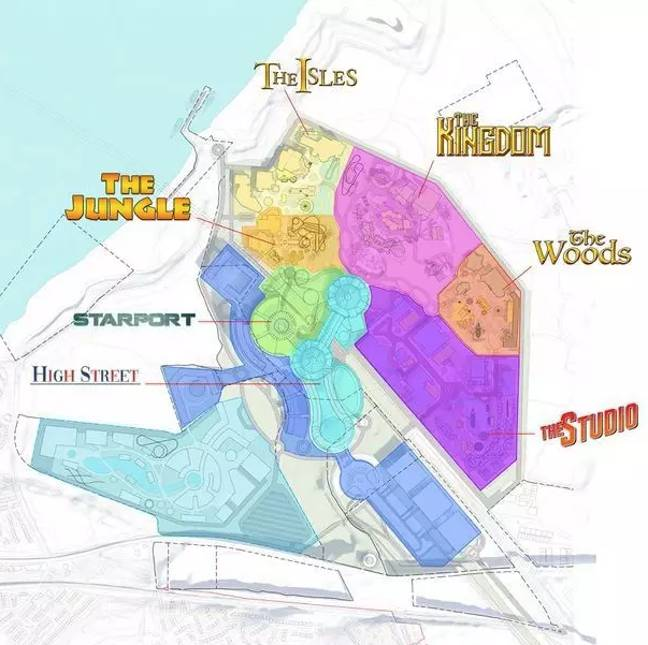 The huge park will feature seven zones (Credit: The London Resort)