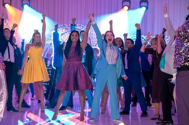 The Prom is being labelled 'cheesy' by viewers (Credit: Netflix)