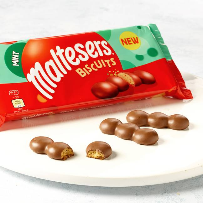 The new Maltesers Mint Biscuits (Credit: Maltesers)