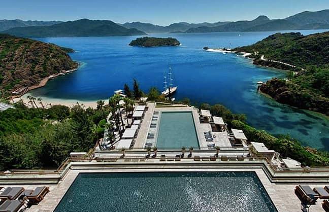 The hotel had panoramic views Credit: D Maris Bay hotel