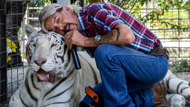 Joe Exotic is in jail for a murder for hire plot against Carole (Credit: Joe Exotic)