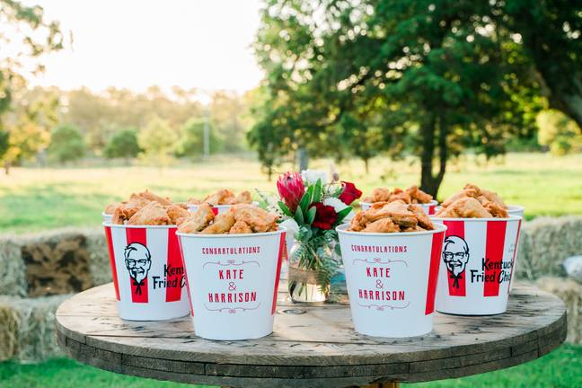 The couple won the bespoke service, beating 2000 entrants in a Finger Lickin' Good competition (Credit: KFC)