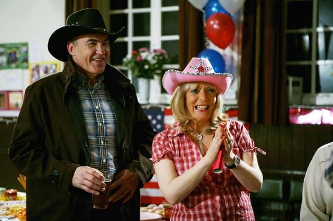 Larry Lamb plays Mick Shipman in the sitcom (Credit: BBC)