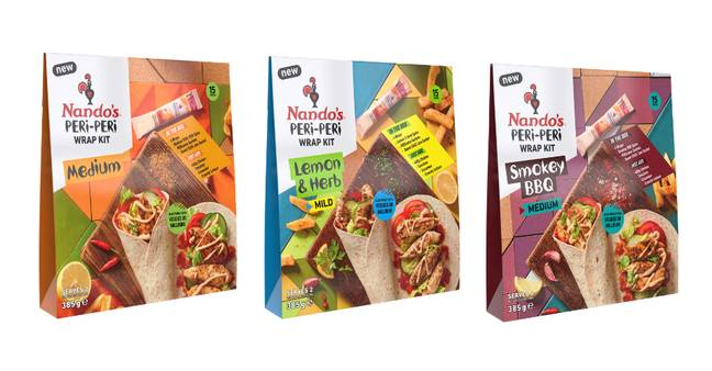 The Wrap Kits are available in three flavours (Credit: Nando's)