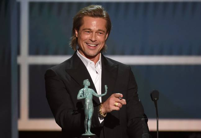 Brad Pitt joked about his single status and not getting on with his wife (Credit: PA)