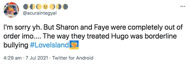 People believed Sharon and Faye went in too hard on Hugo (Credit: ITV)