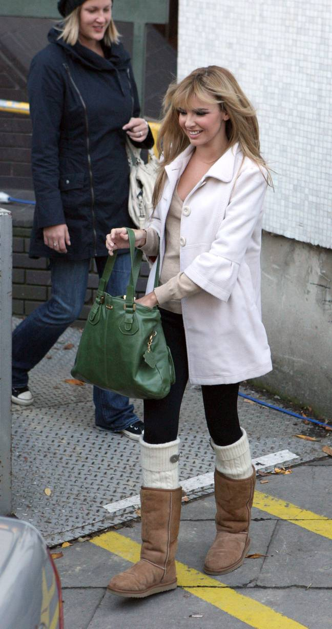 Nadine teamed her UGGs with knitted socks (Credit: Shutterstock)