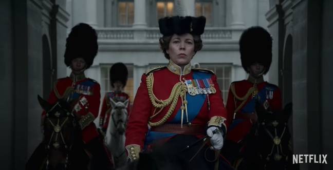 Olivia Coleman stars as the Queen for the final season (Credit: Netflix)