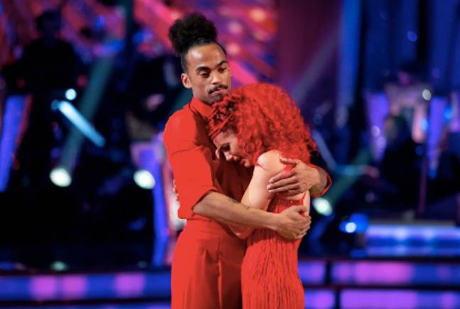 Dev Griffin and Dianne Buswell were distraught to be kicked off Strictly Come Dancing Credit: BBC