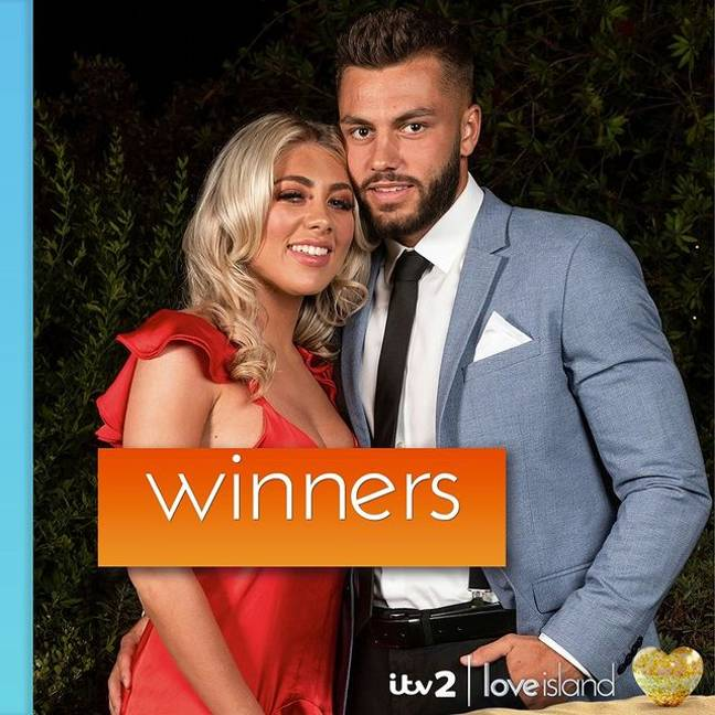 Paige Turley and Finley Tapp won Love Island 2020 ' Credit: Instagram/loveisland