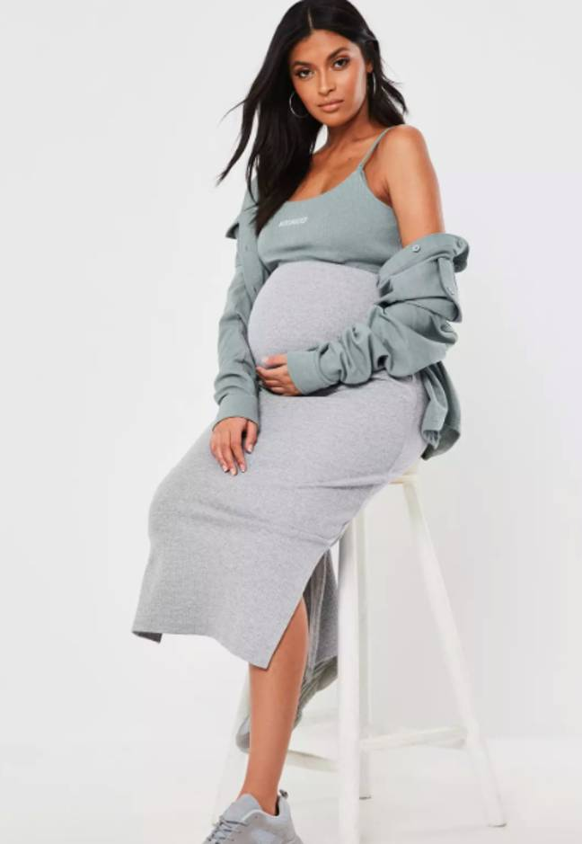 This grey midi skirt is a spring essential (Credit: Missguided)