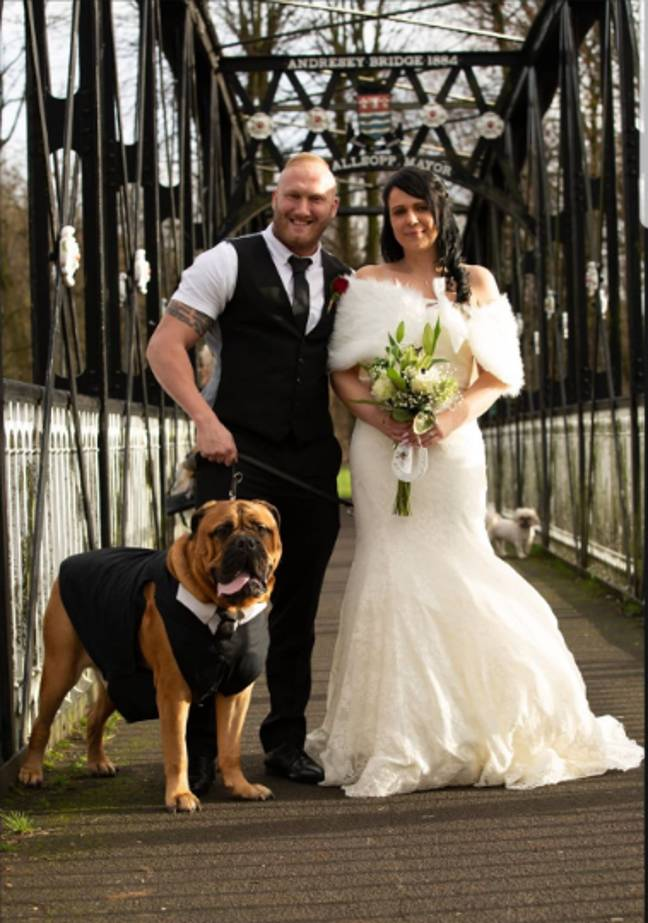 Brucie made it to Danny and Estelle's wedding day. Credit: Dawid Andrzejcak