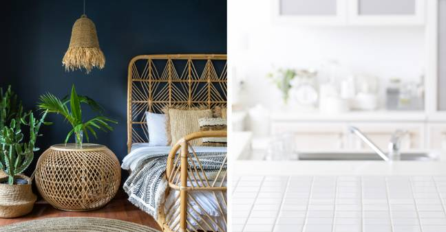Tiled surfaces and wicker all need to get in the bin, too (Credit: Shutterstock)