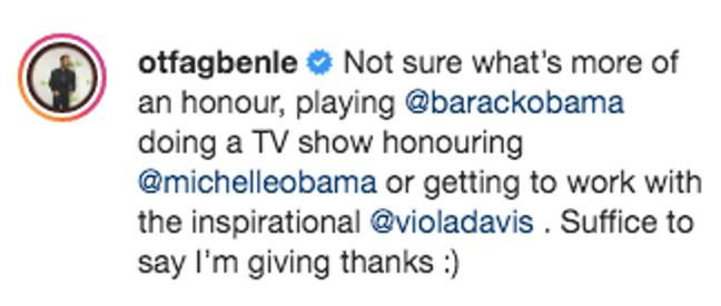 O.T Fagbenle announced the role on Instagram (Credit: Instagram/ O.T Fagbenle)