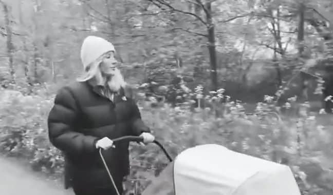 Ellie can be seen pushing the pram (Credit: Ellie Goulding/Instagram)