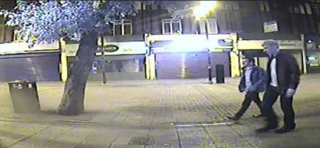 The CCTV image of Port walking with Jack Taylor that lead to his arrest (Credit: PA)