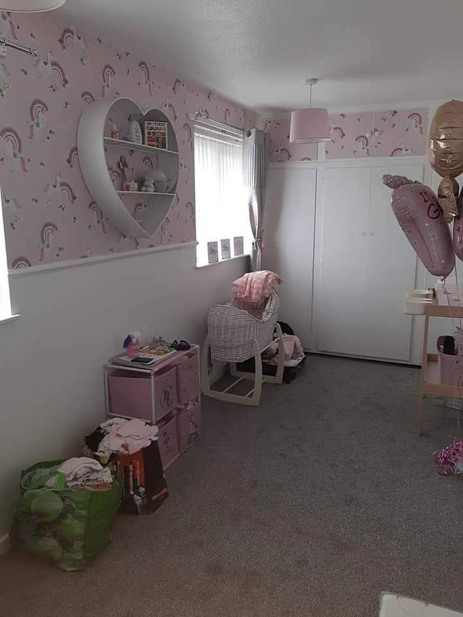 The mum even decorated her nursery pink in preparation (Credit: SWNS)