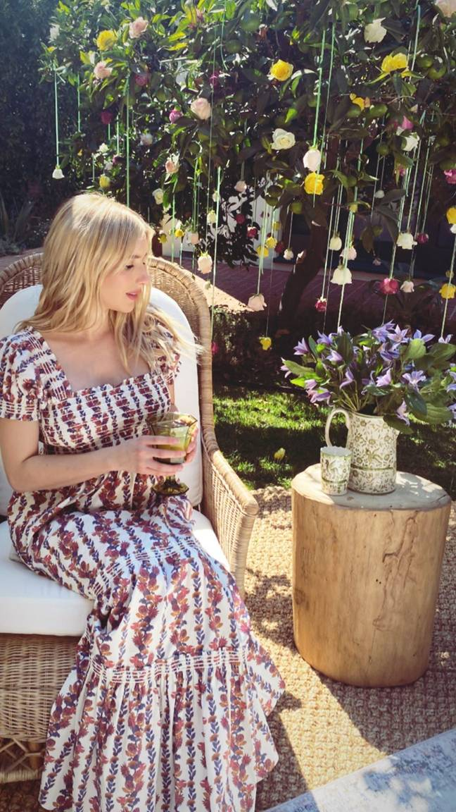 Emma is expecting her first child with boyfriend Garrett Headland (Credit: Emma Roberts / Instagram)