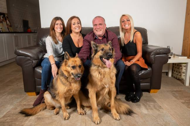Paul Viner, 55, suffered empty nest syndrome when his three daughters left the family home (Credit: SWNS)