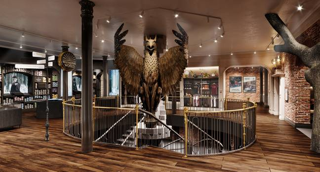 The atrium view of the store (Credit: Harry Potter New York)