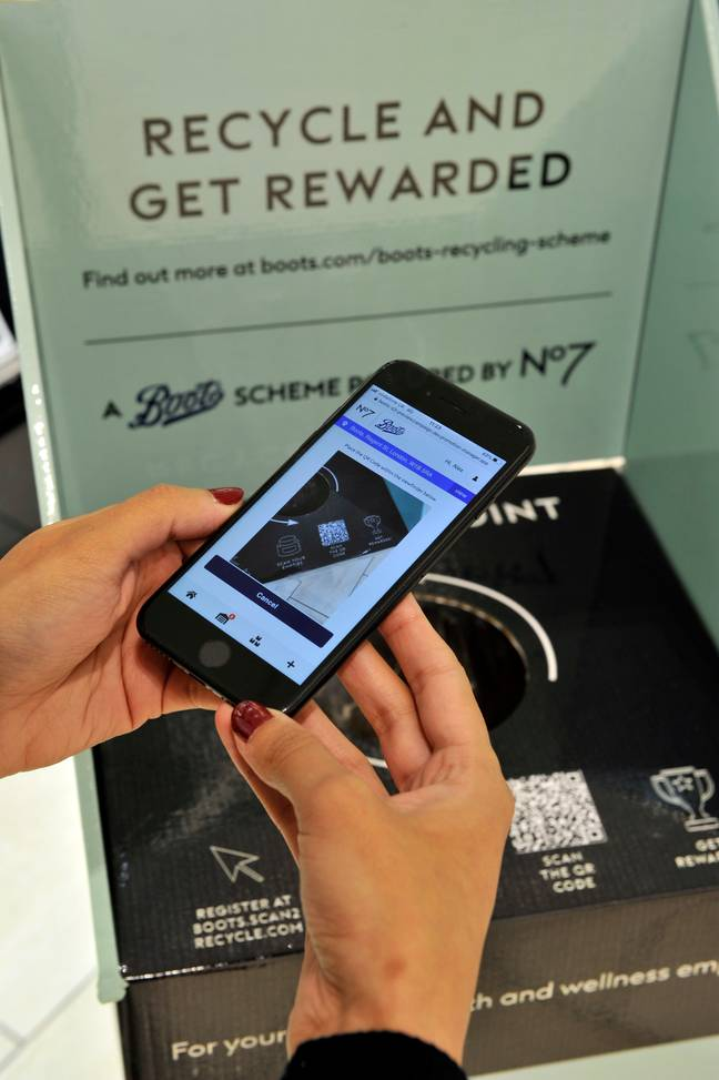 You can scan your products at home before dropping them off (Credit: Boots)