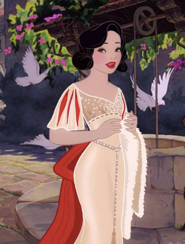 Snow White's Hollywood Diva look (Credit: Instagram/wecallitdisney)