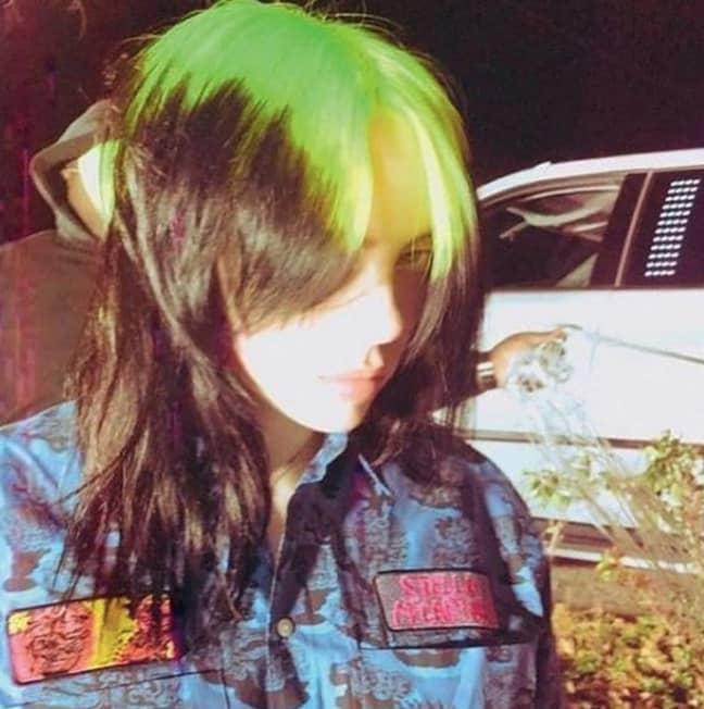 Billie has switched up her green and black hair (Credit: Instagram/Billie Eilish)