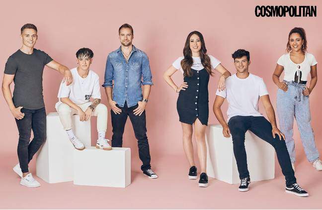 From left to right: 7) Adam, 8) JJ, 9) Jack, 10) Molly, 11) Ryan and 12) Mia Credit: Cosmopolitan/Tinder