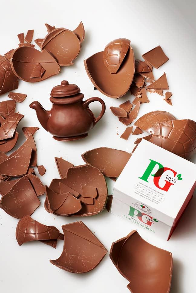 PG Tips vend une véritable théière en chocolat pour Pâques (Crédit: PG Tips)