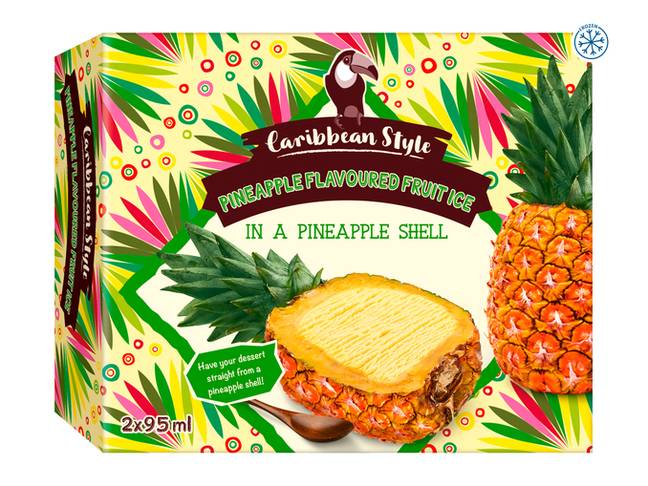 Lidl is selling a new pineapple ice cream that even comes in its own shell (Credit: Lidl)