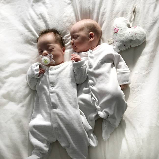 Harper and Quinn were born at 32 weeks (Credit: Nicola Bailey)