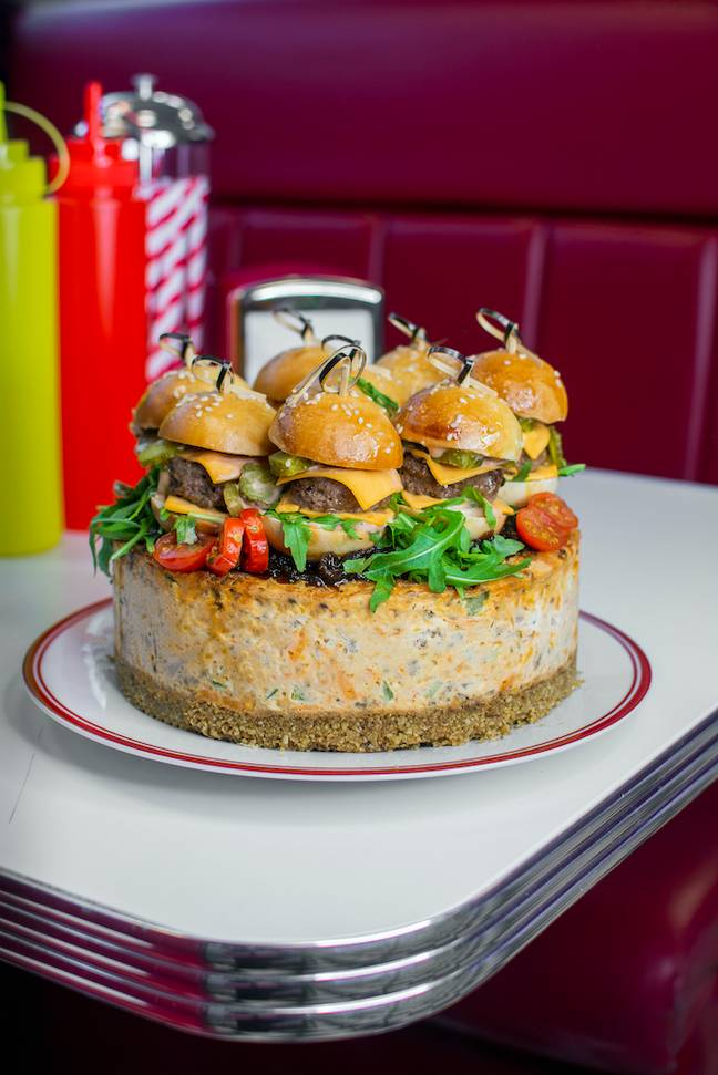 Say hello to the first ever cheeseburger cheesecake (Credit: Pleesecakes)