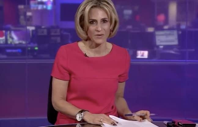Emily Maitlis gave the speech on Newsnight (Credit: BBC)