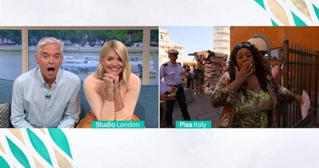 Holly and Phil were left stunned in the studio. Credit: This Morning / ITV