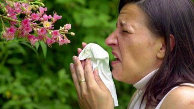 The new symptoms almost appear like hayfever (Credit: PA)