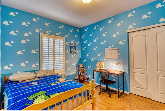 This bedroom was decorated to look just like Andy's room in Toy Story (Credit: Airbnb)