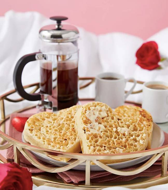 The sausage hamper comes with heart-shaped crumpets (Credit: Marks and Spencers
