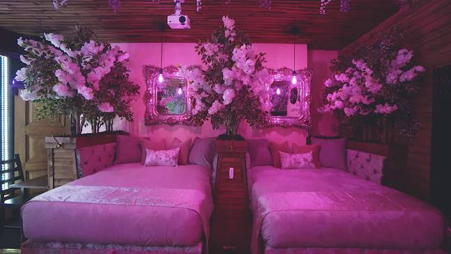 The boudoir comes with two double beds and double sofa beds (Credit: Caters)