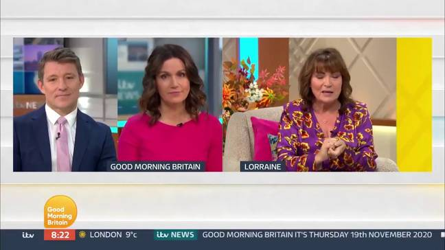 Ben Shephard and Susanna Reid had just interviewed Defence Secretary Ben Wallace (Credit: ITV)