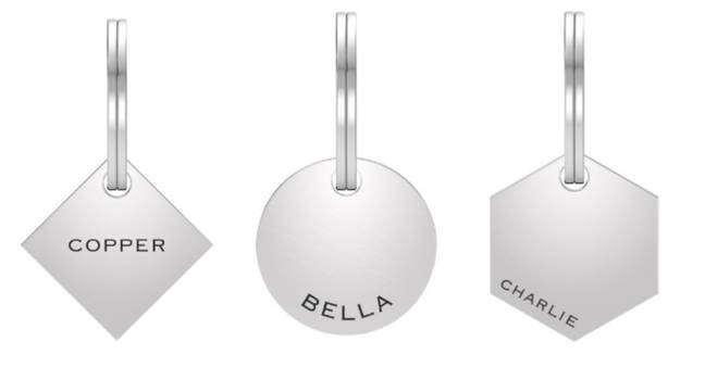 These simple pendants are perfect if your ring has touches of silver (Credit: Taylor & Hart)