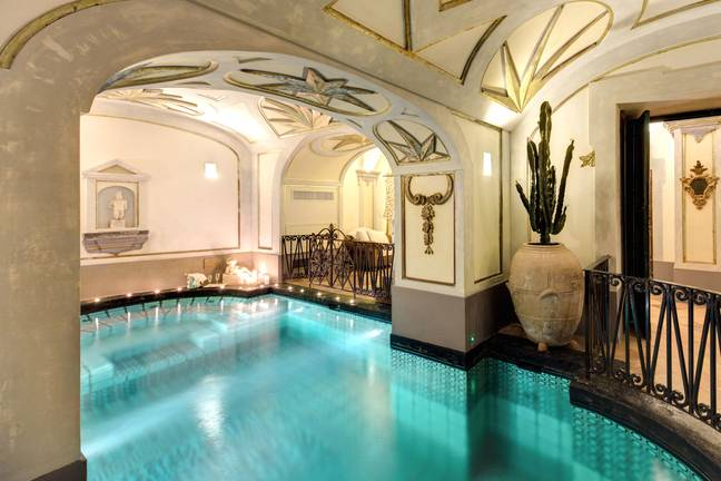 It comes complete with indoor pool, plus indoor and outdoor jacuzzis (Credit: Vincenzo Tambasco)