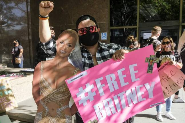 Britney's fans have supported #FreeBritney movement for several years (Credit: PA)