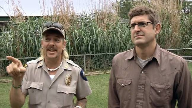 Joe Exotic featured in Louis Theroux's 2011 documentary America's Most Dangerous Pets (Credit: BBC)