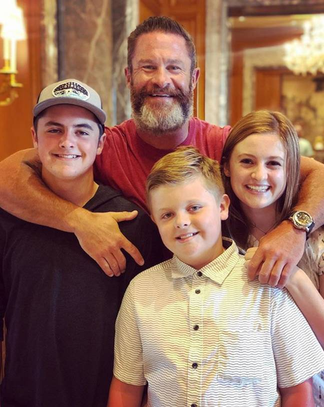 Sean, pictured above, said it was the 'highlight of his day' when Justin walked in, gave him a big hug (Credit: Kennedy News and Media)