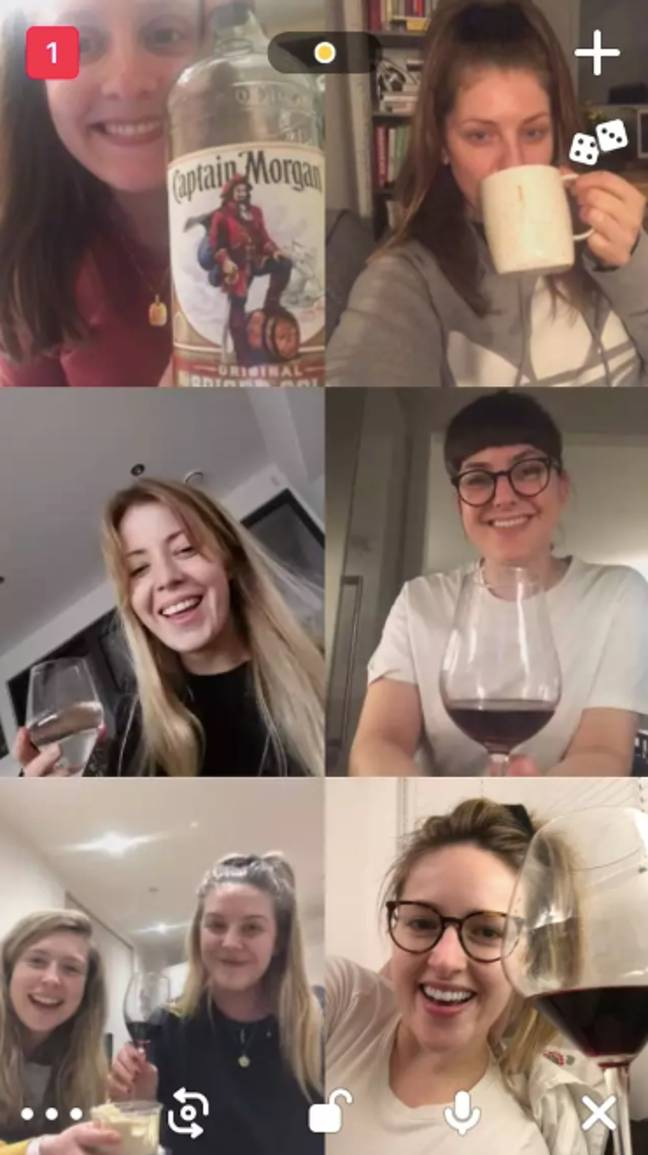 The video chatting app allows friends to group together virtually (Credit: Unity Blott/ Tyla)