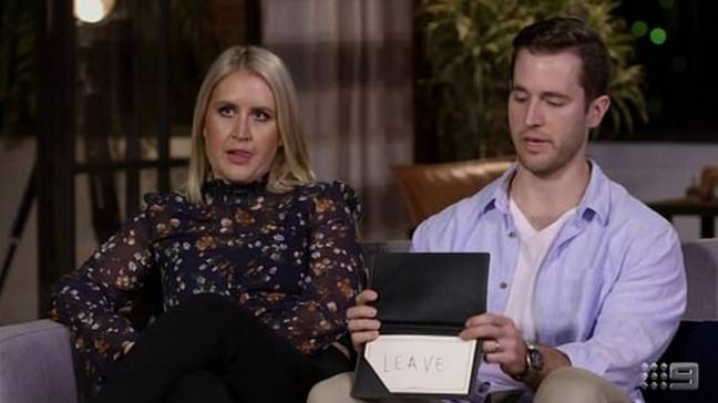 The pair broke up after realising they were very different people (Credit: Channel Nine)