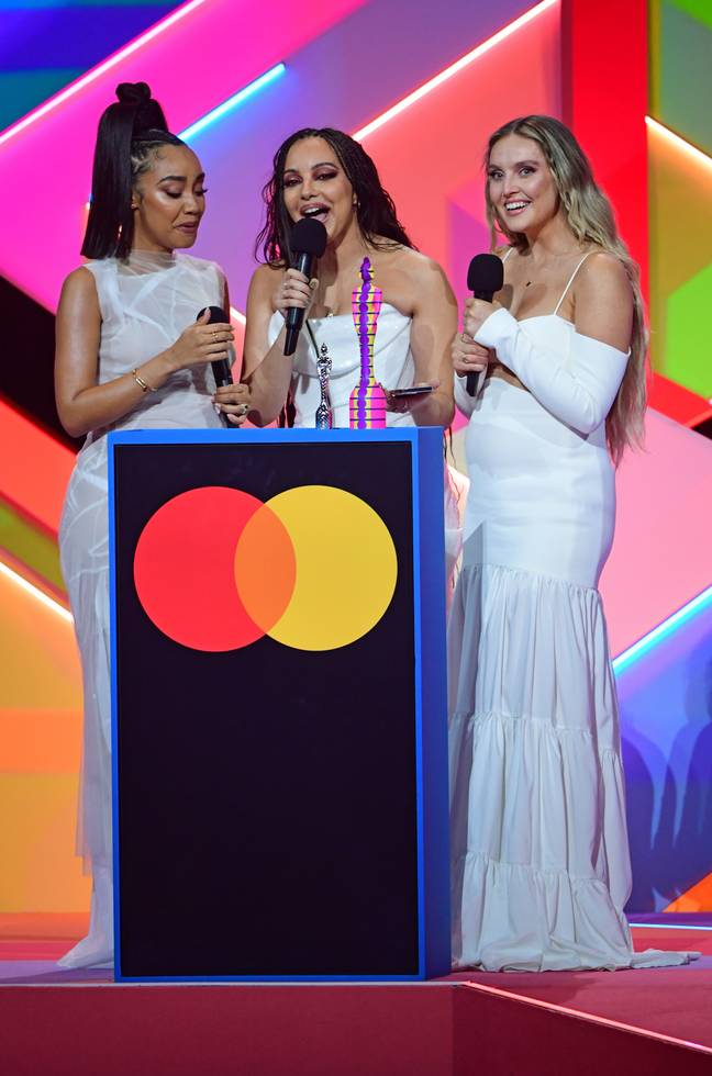 Little Mix thanked Jesy in their acceptance speech (Credit: PA)