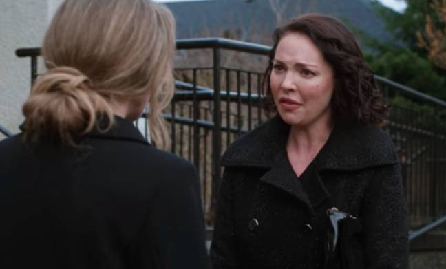 Kate and Tully aren't friends at the funeral (Credit: Netflix)