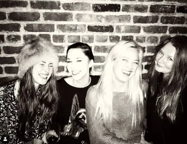 Anna with friends in New York before her arrest (Credit: @theannadelvey/Instagram)